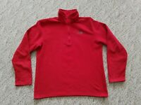 EUC TNF THE NORTH FACE MEN'S FLEECE PULLOVER COLOR RED SIZE MEDIUM M HIKE CAMP