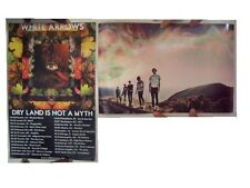 White Arrows Poster  Dry Land Is Not A Myth  Two Sided