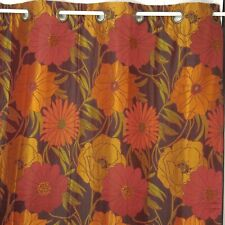 """Pier 1 Imports Sunset Floral 2 Curtain Panels Ea 53"""" X 84"""" Grommets Rich Color"""