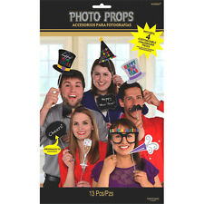Happy New Year Photo Booth Props Party Decoration Kit