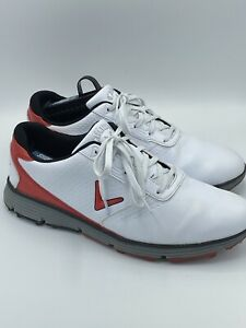 Callaway Balboa Vent SL Leather Golf Shoes CG103WRD White & Red Men's Size 11
