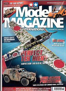 Tamiya Model Magazine  Issue 258, APR 2017  VF to NM, Tamiya Hien 1/48