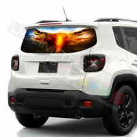 Eagles Decals Rear Window See Thru Stickers Perforated for Jeep Renegade 2020
