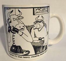 The Far Side Gary Larson Cows Prank Call Coffee Mug Vintage 1981