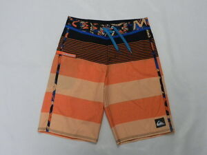 "Quiksilver Boys Brigg Remix Orange 19"" Boardshorts Swimwear Sz 26"