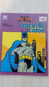 Golden Batman Book 1989 Trace & Color New Unused