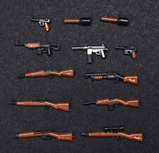 12 Gun lot World War 2 Machine Rifle Future Weapons compatible w/ Lego (Z1)