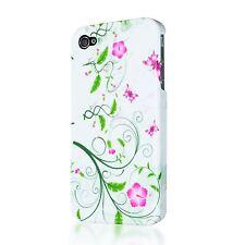 DECORATIVE ORNAMENT FLOWER DESIGN PLASTIC CASE BACK COVER FOR APPLE IPHONE 4 4S