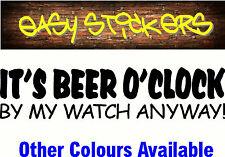 300mm Beer O'Clock Aussie Car Ute Funny Truck Caravan Sticker Bogan Decal