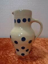 Bürgel / Bürgeler Keramik Krug / Kanne - Blaue Punkte - Vintage