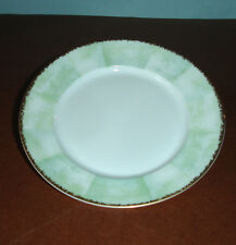 "Lalique Limoges Orchidees Bread Butter 6.25"" Plate Green/Gold $65 New"