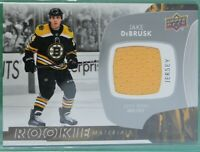 2017-18 Upper Deck ROOKIE Materials JERSEY #RM-JD Jake DeBRUSK