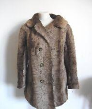 Piel Chaqueta de Piel Cordero Marrón Tamaño Del Vestido: 40-42 Furs Меха