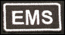 EMS Iron-On Patch/Badge EMERGENCY MEDICAL SERVICE for T-Shirt Hat Uniform 25P
