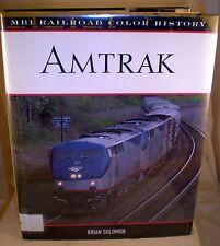 Railroad Color History: Amtrak by Brian Solomon (2004, Hardcover w/ dj, 1st ed.