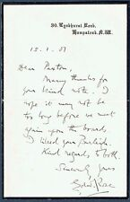 Edward Rose (1849 - 1904), English Playwright.  1901 Autograph Letter
