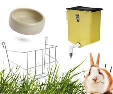 Kleintier-Zubehör-Set: Nippeltränke +Steintrog +Heuraufe für Hasen und Kaninchen