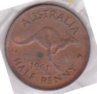 (H89-54) 1961 AU half penny coin (BF)
