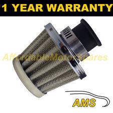 25 mm Aire Aceite Manivela Funda Respirador de filtro se ajusta más vehículos Plata cono
