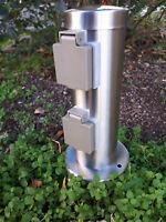 Nordlux Power socket Edelstahl Energiesäule zwei Steckdosen IP44 Gartensteckdose