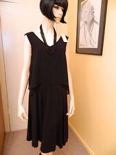 Capture Designer Label Ladies Black Dress Size 14