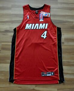 CARON BUTLER MIAMI HEAT AUTHENTIC NBA JERSEY DRI FIT RED NIKE SEWN 48 XL NWT