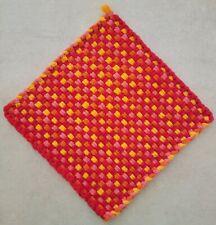 "New listing 10"" x 10"" handmade cotton potholder / trivet Pioneer Woman colors"