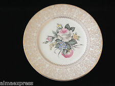 """Salem Heritage Collection China Royal Rose Bouquet 10-3/4"""" LARGE DINNER PLATE"""