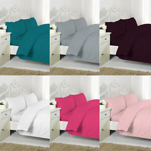 Non Iron PC Percal Duvet Cover Set With Pillow Cases Single, Double King S King