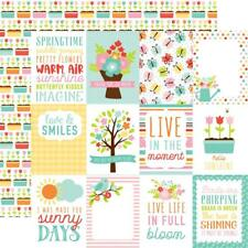 "Echo Park Hello Spring - 3x4 JOURNALING CARDS  12x12"" d/sided scrapbooking paper"