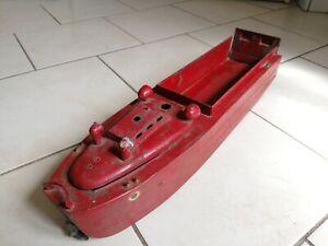 JRD jouet en tole rare bateau de debarquement jouet ancien en tole