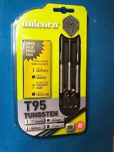 New 18 gram matched weight UNICORN CORE XL T95 TUNGSTEN SOFT TIP DART Bonus Pack