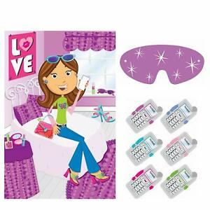 Glitzy Girl Butterfly Shopping Fancy Pink Kids Birthday Party Activity Game