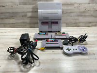 Super Nintendo SNES System (SNS-001) Console & 3 Games w/ OEM Controller - Clean