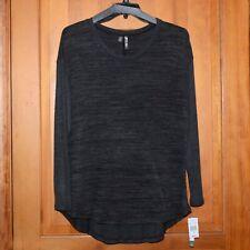 NWT Silverwear Woman Plus Sweater Tunic Top Charcoal/Black 1X