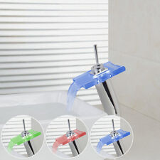 Luxury Basin Mixer Bathroom Waterfall Vanity Sink Tap Brass Chrome Basin Faucet