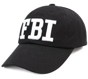 FBI  Hat embroidered Adjustable Strap
