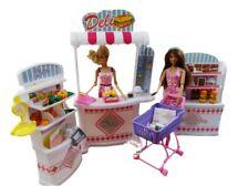 Supermarket Furniture Set Shelves+Checkout Counter+Shopping Cart for Barbie