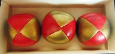 True Canadian Balls - Fine Juggling Balls 3 - (Gold & Red) - New