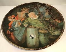 """Lemp Charger ca 1917 Modified Version Tin Tray Sir Falstaff Beer Advertising 24"""""""