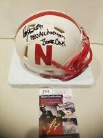 Dean Steinkuhler Autographed SIGNED  2X INSCRIBED Nebraska Huskers Mini Helmet