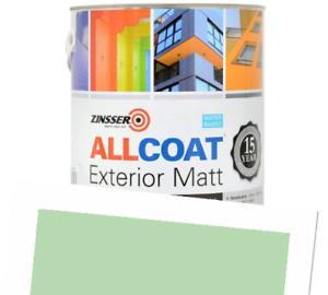 Zinsser Allcoat Exterior 15 Year Protection WB Tintable RAL6019 Green Matt 1L