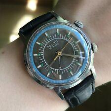 Soviet POLJOT Alarm Bicolored Vintage Men's Watch Analog USSR Export Collectible