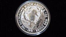 1991 Australian Kookaburra 1 oz. SILVER *BU* in capsule