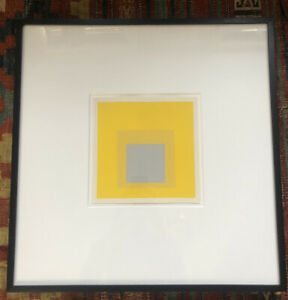 """Josef Albers silkscreen """"Homage to the Square"""" 1977 Professionally Framed"""