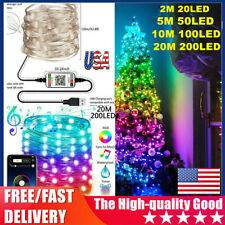 Christmas Tree Decoration Lights Custom LED String Apps Remote Control USA STOCK