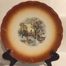"""Vintage Petrus Regout Dutch Decorative Cabinet Plate  9 1/2"""""""