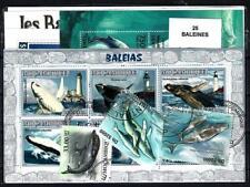 Baleines - Whales 25 timbres différents oblitérés