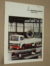 Prospectus Camion MAGIRUS DEUTZ 130M11FL catalogue prospekt brochure truck LKW