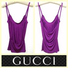 Gucci $675 sexy slinky and stretchy bright purple party top~XS